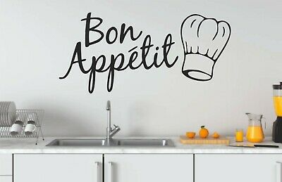£3.99 • Buy Bon Appetit Stickers For Kitchen,removable Home Decor,quality Vinyl Decal Quotes