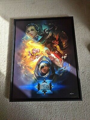 AU384.89 • Buy ~blizzard~ Blizzcon Key Art Canvas 2016 Warcraft Overwatch Diablo Hearthstone