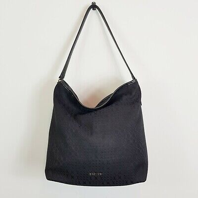 AU120 • Buy [ OROTON ] Womens Black Jacquard Hobo Bag / Handbag