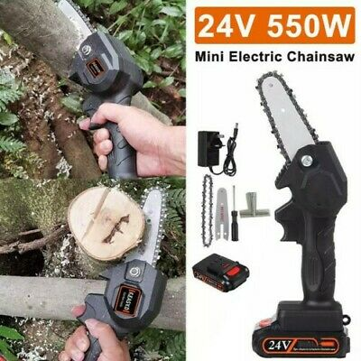 Cordless Electric Chain Saw Wood Cutter 550W Mini One-Hand Saw Woodworking  • 39.89£