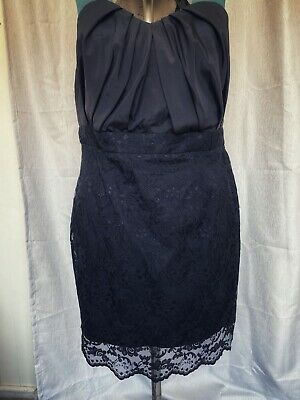 AU36 • Buy ASOS CURVE | Black Lace Strapless Dress | Exposed Zip | Ruched Bust | Size 20