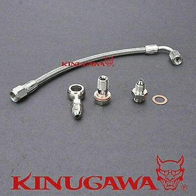 AU59.90 • Buy Kinugawa Turbo Oil Feed Line Fit Mitsubishi Lancer GSR 4G93T 1.8T TD04L TD05H