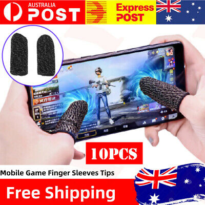 AU10.89 • Buy 10PC Finger Sleeve Touch Screen Non-slip Thumb Breathable Sleeve For Mobile Game