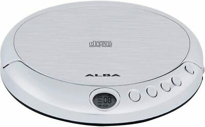 Alba Jog Proof Portable Personal CD Player + Earphones Battery Powered - Silver • 13£