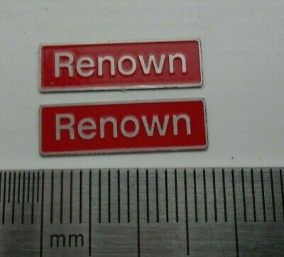 AU17.83 • Buy 50029 Renown. O Gauge Etched 7mm Scale Plates. Self Adhesive. Red B/g