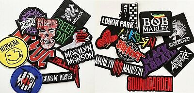 £2.05 • Buy Music Band Embroidered Iron On Or Sew On Patch (pk13) Rock Punk Pop Heavy Metal