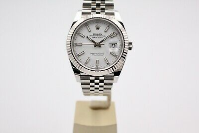 $ CDN15838.80 • Buy Rolex Datejust 41 White Dial 126334 Box And Papers 2020 Unworn