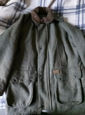 £45 • Buy Tweed Field Coat Large Winter Hunting Outdoor Warm Great Condition