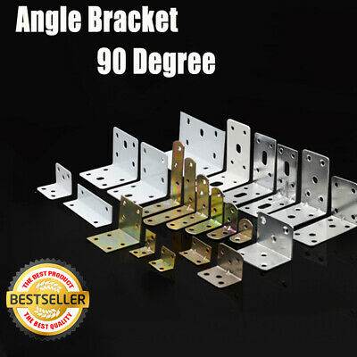 AU8.49 • Buy Corner Braces Angle Brackets L Shape Zinc Plated Brace Bracket New