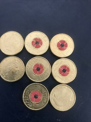 AU12 • Buy 🥇Rare🥇2018 Australian Two Dollar $2 Coin - ARMISTICE RED POPPY💰Uncirculated