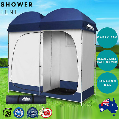 AU83.07 • Buy Weisshorn Camping Shower Tent Double 4 Person With Carry Bag Navy And Grey
