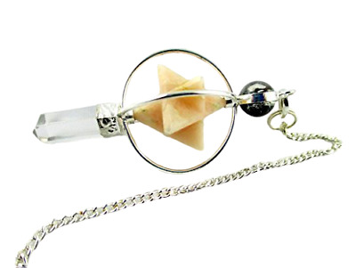 Moonstone Spinning Merkaba Pendulum 2.5 Inch Jet International  • 15.99£
