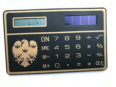 Vintage Calculator BARCLAYS BANK Ultra-thin Heraldic Spread Eagle CREDIT CARD • 11.99£