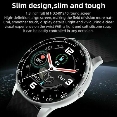 AU33.49 • Buy Smart Watch IP68 PPG ECG Blood Oxygen Pressure Heart Rate For Android IPhone