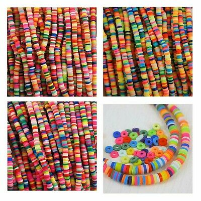 £1.99 • Buy 4 Mm Beads, Polymer Clay, Rainbow Beads,  6 Colours To Choose From , Infill  CP4