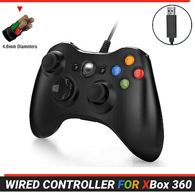 AU27.49 • Buy Wired Controller Gamepad For Xbox 360 Console Game Joypad Games Black 2.5m Cable