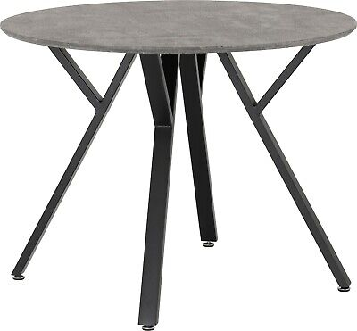 Athens Round Dining Table Concrete Effect • 119.99£