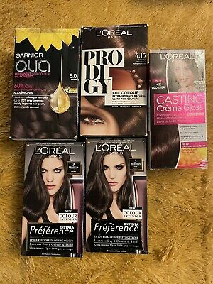 New L'oreal Paris & Garnier Bundle Of Permanent & Semi Brown Hair Colour Dye • 16.95£