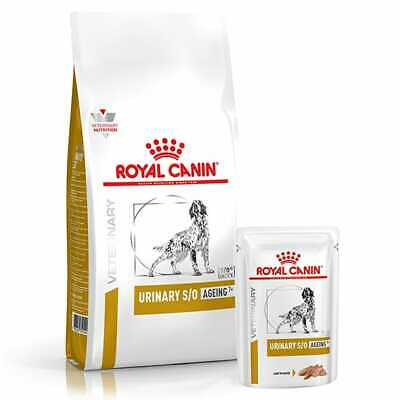 Royal Canin Vet Urinary S/o Ageing 7+ Dog Dry Food & Pouch - Best Price!! • 13£