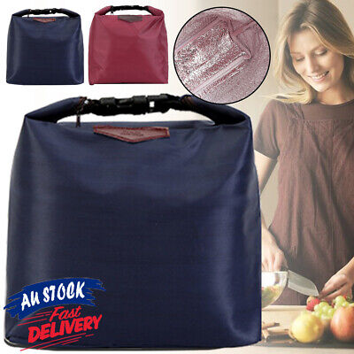 AU6.49 • Buy Portable Thermal Insulated Cooler Pouch Waterproof Lunch Box Storage Bag Picnic