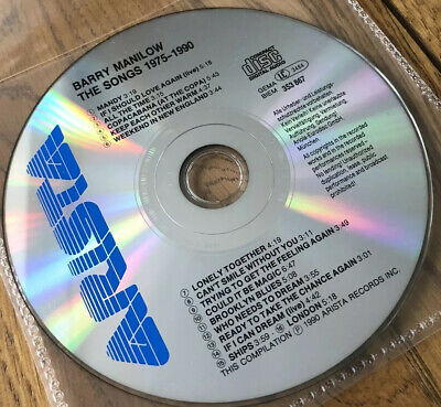 Barry Manilow : The Songs 1975-1990 CD (1990) • 4£