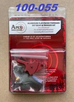 $166.20 • Buy Apex Tactical Flat Faced Forward Set Trigger Kit Red For S&W M&P 1.0 Centerfire