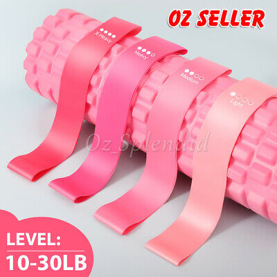 AU14.95 • Buy Yoga Resistance Booty Bands Set 4 Loop Bands Gym Heavy Workout Fitness Exercise