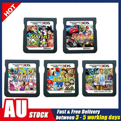 AU23.99 • Buy 208/482/500/502/520 In1 Video Games Cartridge Cards For DS NDS 2DS 3DS NDSI NDSL