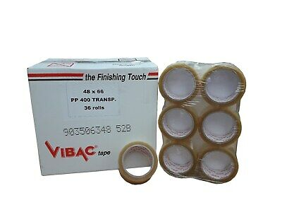 £34.99 • Buy Vibac Solvent Clear Tape 66m X 48mm Qty 36, Parcel Packing Packaging