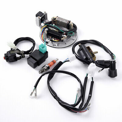 $48.38 • Buy For 50-125cc Kick Start DirtBike Wire Harness Wiring CDI Coil Magneto Spark Plug