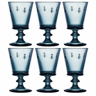 La Rochere Bee Blue Wine Glass 240ml Set Of 6 • 53£