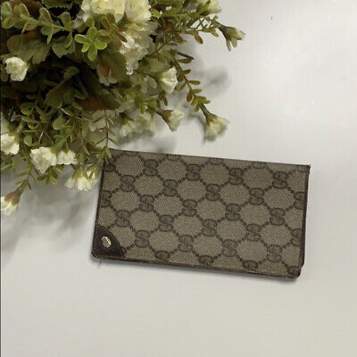 $125 • Buy Gucci Wallet - Check Book Holder Brown - Preowned - Vintage