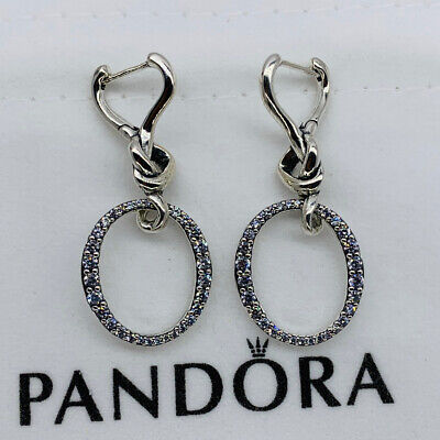 New Pandora Oval Knotted Heart Drop Earrings • 42.68£