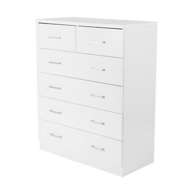 AU243.99 • Buy WHITE Artiss Tallboy Dresser Table 6 Chest Of Drawers Cabinet Bedroom Storage