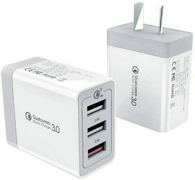 AU11.39 • Buy 30W QC 3.0 Fast Charging 3 USB Wall Charger Adapter For Iphone & Samsung AU Plug