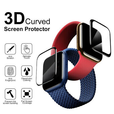 AU5.69 • Buy New 3D Curved Tempered Glass Screen Protector For Apple Watch Series 6 5 4 3 2