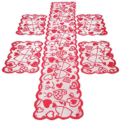 £6.47 • Buy Red Vintage Lace Table Runner Mats Wedding Party Valentine's Day Dining Decor