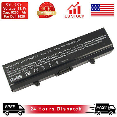 $14.99 • Buy Battery For Dell Inspiron 1525 1526 1545 1546 1440 1750 GW240 X284G RN873 M911G