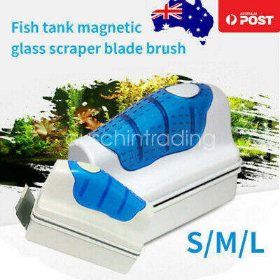 AU10.99 • Buy Magnetic Fish Tank Brush Algae Aquarium Glass Floating Moss Cleaner With Scraper