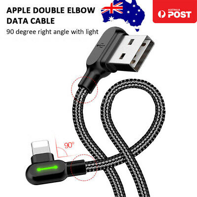 AU7.85 • Buy MCDODO 90° Elbow LED Charging Cable Data Cord For Apple IPhone 12 11 XS Max X 8