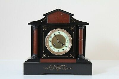 French Slate & Marble Mantel Clock • 250£