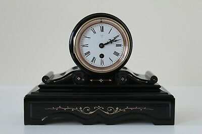 Eye Catching French Slate And Marble Mantel Clock, A Stunning Example; C1880 • 345£