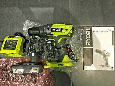New Ryobi ONE+ 18V R18PD3 Cordless Percussion Drill + 1.5Ah Battery + Charger • 83.99£
