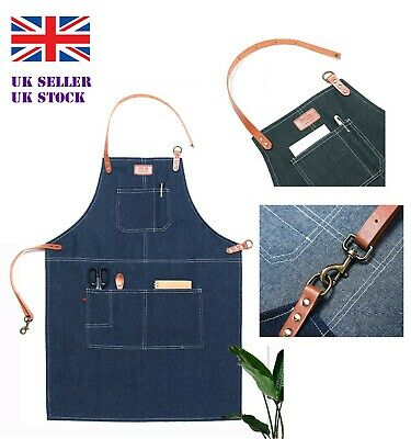 Sterling sports /& Oxford Denim Barista adult apron indigo new//sealed buy for £10