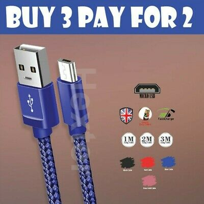 $ CDN5.10 • Buy Strong Braided Micro USB Fast Charger Charging Data Cable Sync Lead For Android