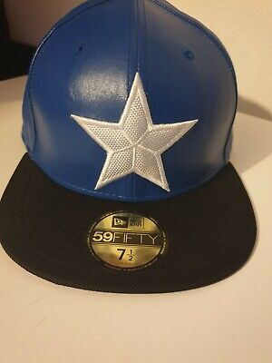 New Era Captian America Marvel Size 7 1/2 Rare Snapback Hat Official  • 35£