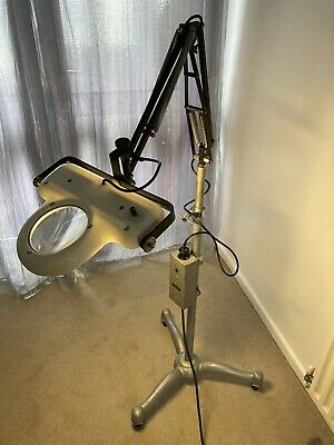 Vintage Industrial Magnifying Anglepoise Tall Floor Medical Hospital Lamp • 295£
