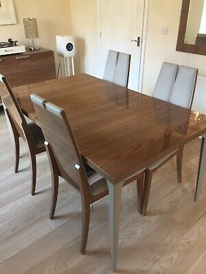 Dining Room Suite:Table And 4 Chairs With Display Cabinet, Sideboard & Mirror • 1,800£
