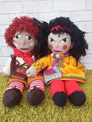 Rosie And Jim Large Rag Doll Rare Set 1990's Canalboat Toys 23  • 75£
