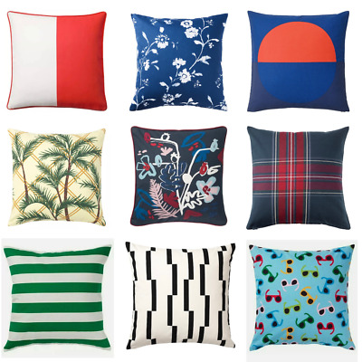 IKEA CUSHION COVER 50 X 50cm, 40x65cm 100% Cotton New! UK Seller Fast Delivery! • 7.49£